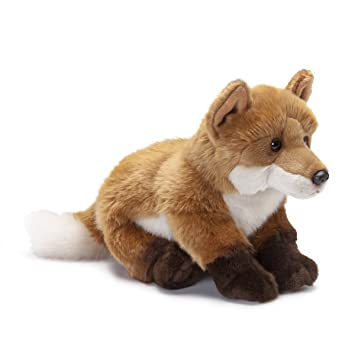 Amazon Com Demdaco Sitting Large Fox Soft Orange And White