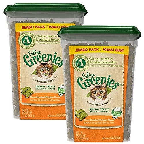FELINE GREENIES Dental Cat Treats (Chicken, 22 oz.)