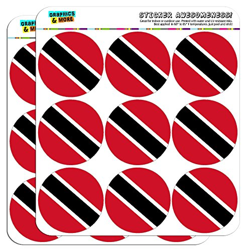 """Trinidad and Tobago National Country Flag 2"""" Planner Calendar Scrapbooking Crafting Stickers - Clear"""