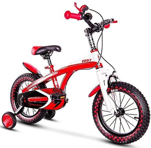 YUMEIGE Bicicletas Bicicleta Infantil para niños y niñas, Bicicleta para niña roja Talla 14 16 18 con Rueda de Entrenamiento, Bicicleta Infantil fácil de Instalar Disponible (Size : 18in): Amazon.es: Jardín