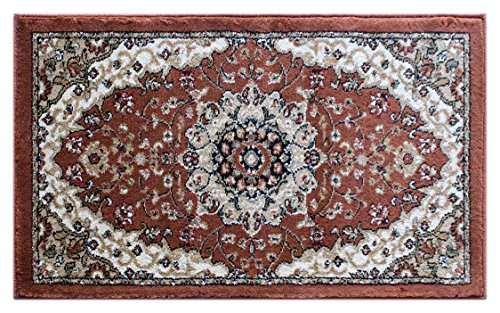 Traditional Area Rug Design Bellagio 401 Copper Brown (24 Inch x 40 Inch) Mat