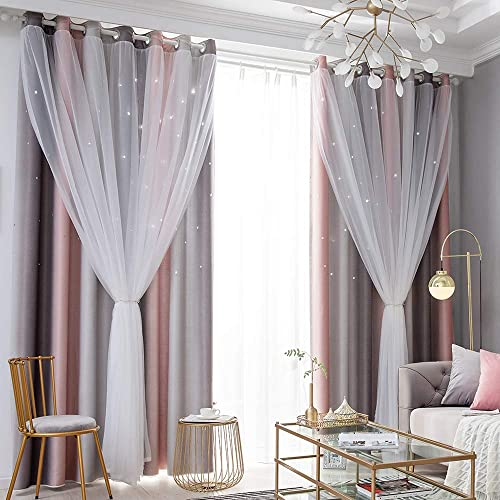 Gradient Ombre Stars Curtains Draperies