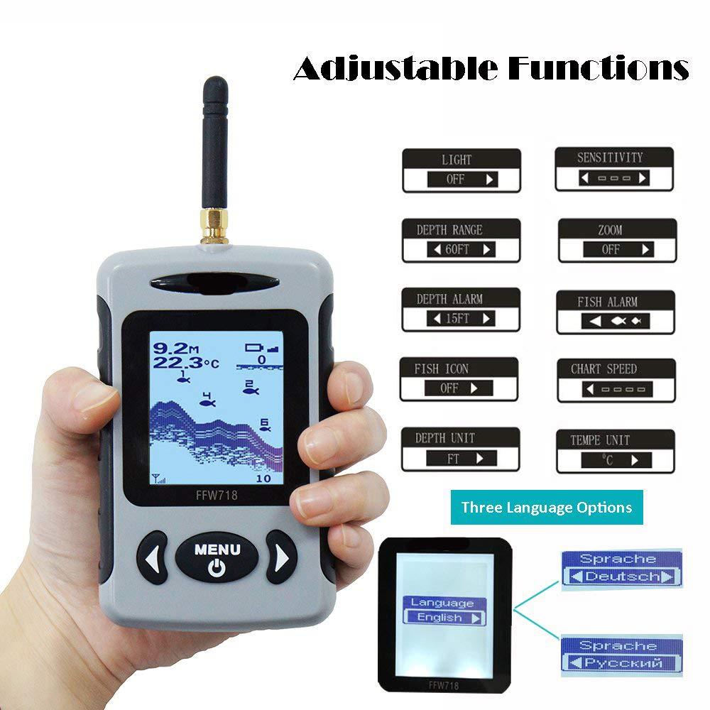 Alarma con Pantalla LCD Portátil Inalámbrico Buscador de ...