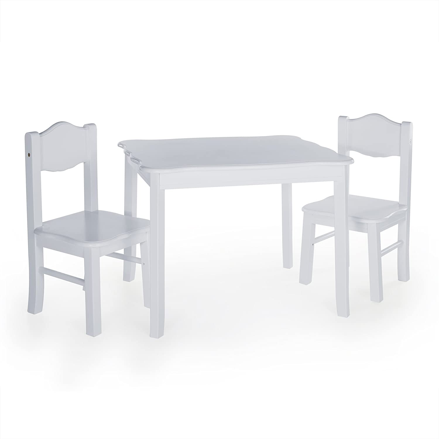 Guidecraft Classic Table and Chairs Set - Espresso: Kids Playroom Furniture 23213E