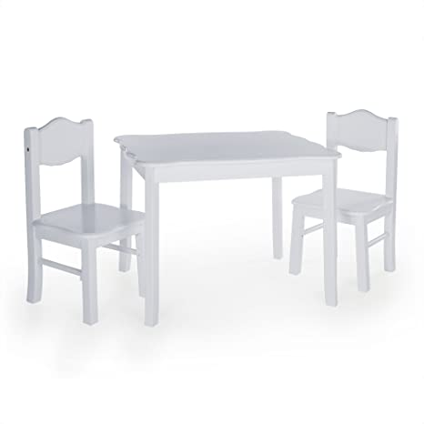 Guidecraft Classic Table And Chairs Set   Gray: Kids Playroom Furniture