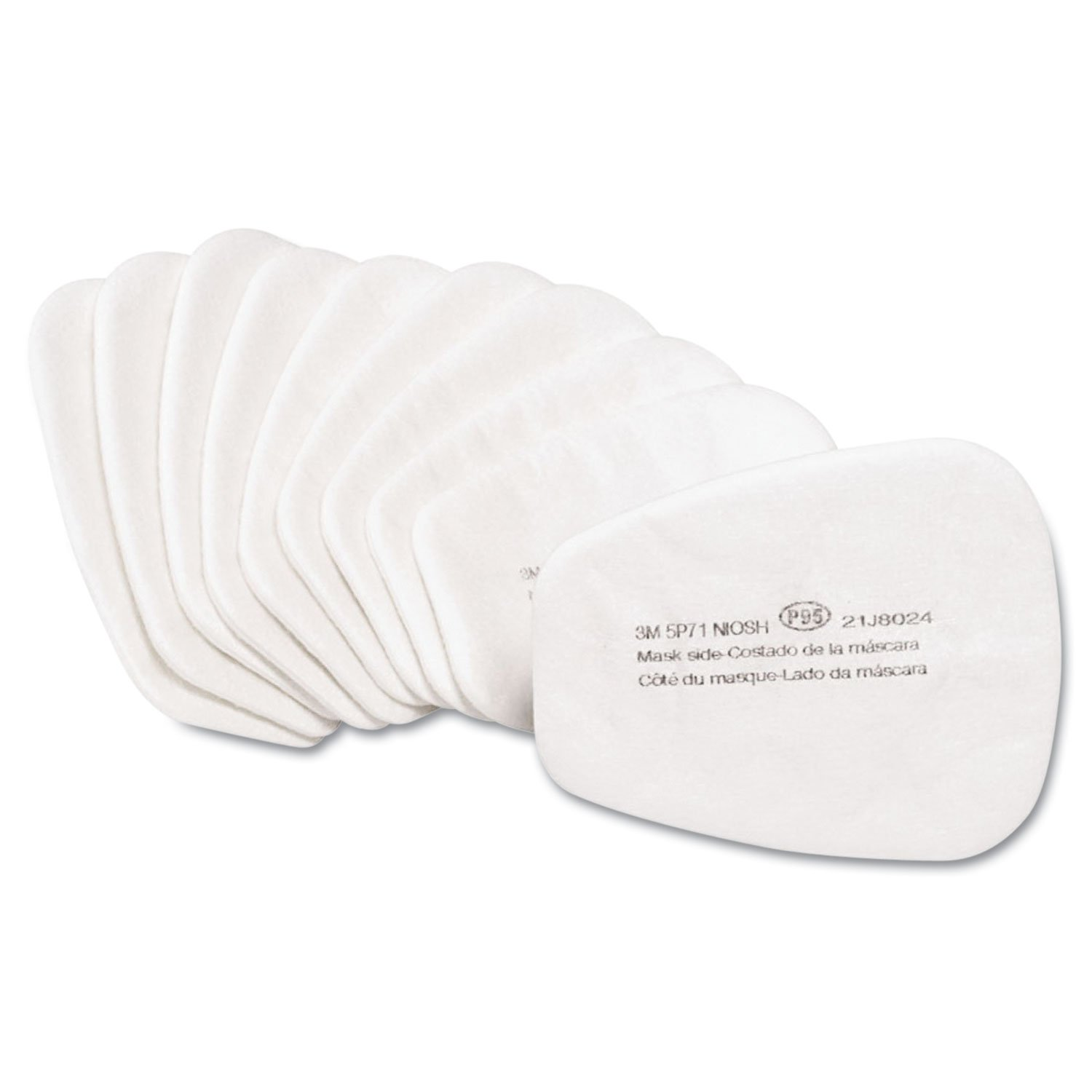 3M 5p71 P95 Particulate Filter, Use with 501 Filter Retainer, Box/10