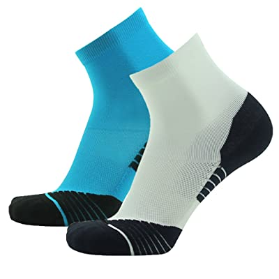 Running Socks, NIcool Mens Athletic Performance Comprssion Ankle Dress Socks
