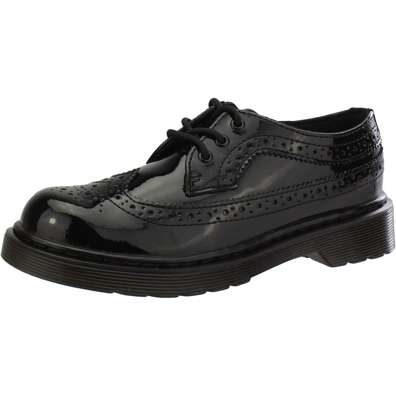 Dr. Martens 3989 Y Noir Brevet Jeunesse Brogue Chaussures