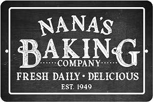 Pattern Pop Personalized Chalkboard Baking Company Metal Room Sign
