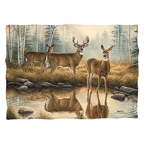 Wild Wings Autumn Reflections 2 (Front Back Print) Poly 20X28 Pillow Case White One Size