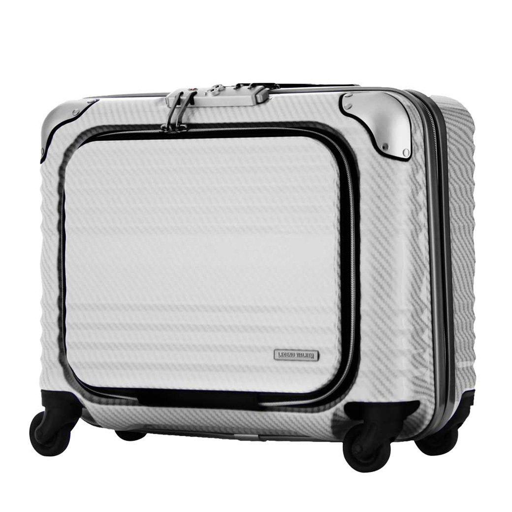 スーツケース キャリーバッグ 機内持ち込みサイズ TSAロック legend walker レジェンドウォーカー B017Q0948U No.6206-44 ラフカーボンホワイトシルバー