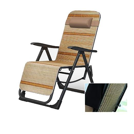 Mueble de jardín/Silla Plegable Sillas reclinables de Gravedad Cero for el Patio Jardín portátil Lounger Soporte 200 kg Silla de Camping Ligera (Color: Negro) (Color : Black): Amazon.es: Jardín
