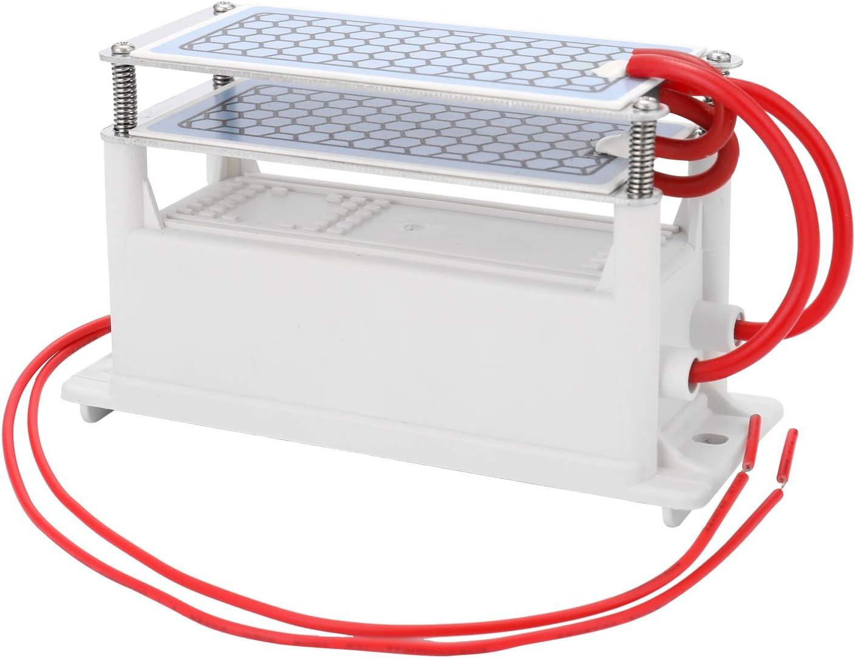KKmoon 5g/h (10/g) Generador de Ozono de Cerámica Portátil de Doble Placa Integrada,Ozonizador Purificador de Aire de Agua