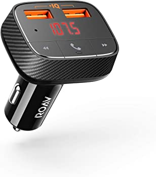 Anker Roav SmartCharge F0 Bluetooth FM Transmitter 2-Port USB Car Charger