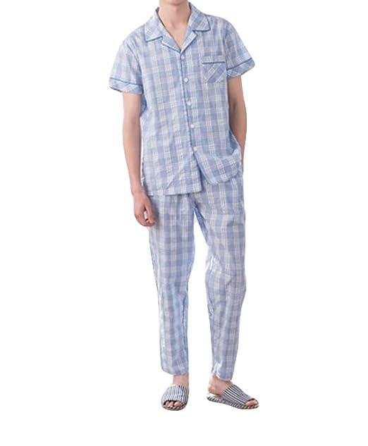 Verano Tejida A Cuadros Pijama De Rayas A Cuadros Chaqueta De Punto De La Solapa De