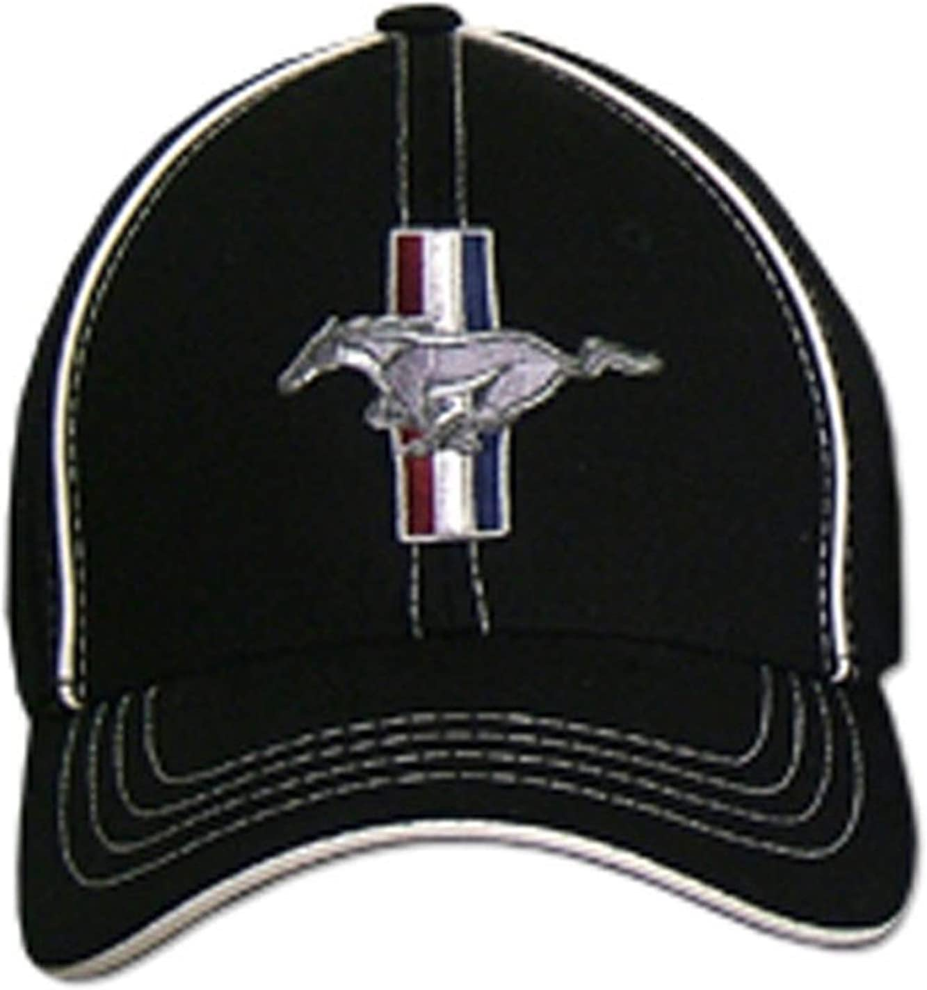 Gregs Automotive Compatible Mustang GT Hat Cap Flex-Fit Black Bundle with Driving Style Decal