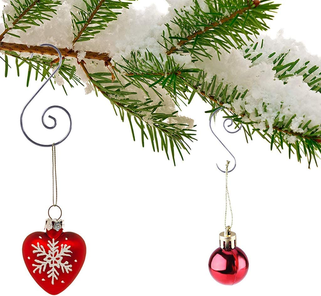 ZERIRA Christmas Ornament Hooks 160 Pcs Multiple Colour Christmas Tree Ornament Hangers Hooks Great for Christmas Tree Decorations