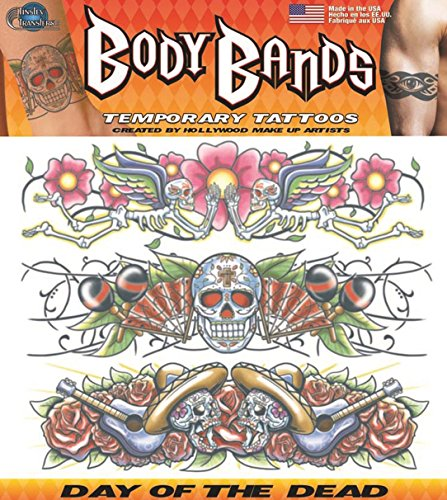 Tinsley Transfers Day of The Dead Band Temporary Tattoo