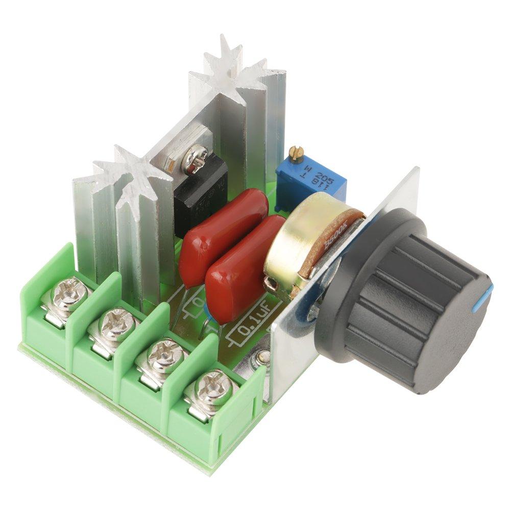 AC 50-220V 25A 2000W Regulador de voltaje del motor Regulador de voltaje LED Atenuadores Hilitand