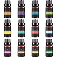 Essential Oil Set, Womdee Aromatherapy Top Grade Fragrance Oils, Frankincense, Lavender, Tea Tree, Peppermint, Lemongrass, Orange, Eucalyptus, Rosemary, Cinnamon, Bergamot, Grapefruit, Pine (12Pcs)