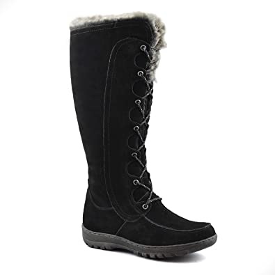 8c8ac4d2e46 Comfy Moda Women s Winter Snow Boots Genuine Suede Leather  6-12 - Warsaw (