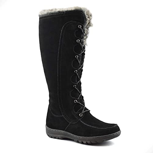 55964bc24d89 Comfy Moda Women s Winter Snow Boots Genuine Suede Leather  6-12 - Warsaw (