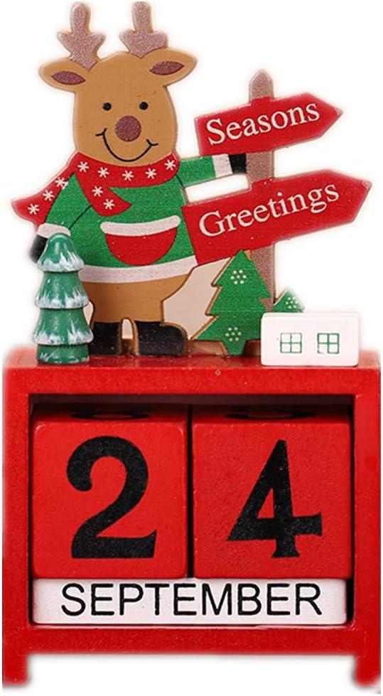 Reindeer Countdown Blocks