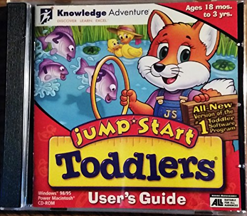 Knowledge Adventure JumpStart Toddlers Ages 18mos - 3yrs - 1999 - PC/Mac - Jewel Case