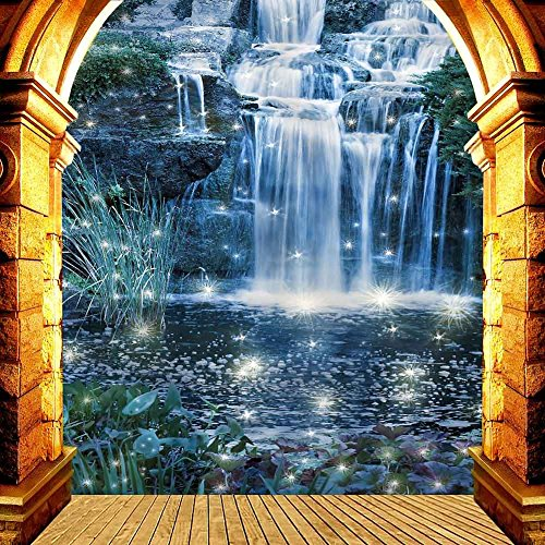 GladsBuy Nice Waterfall 10' x 10' Digital Printed Photography Backdrop Arches or Pillars Theme Background YHA-355 by GladsBuy