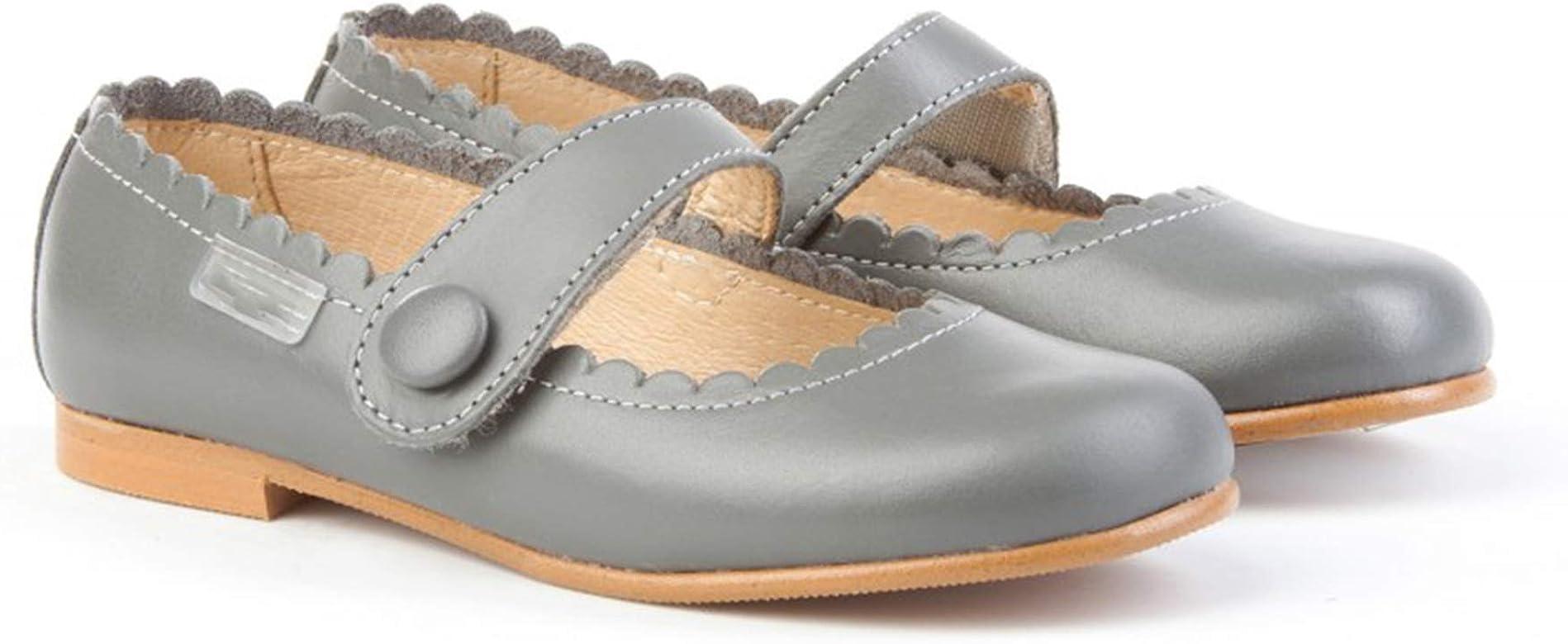 Zapatos Merceditas de niña con Cierre de Velcro. Este Zapato Francesita está Fabricado en Piel y Hecho en España - Mi Pequeña Modelo 1512I Color Gris.: Amazon.es: Zapatos y complementos