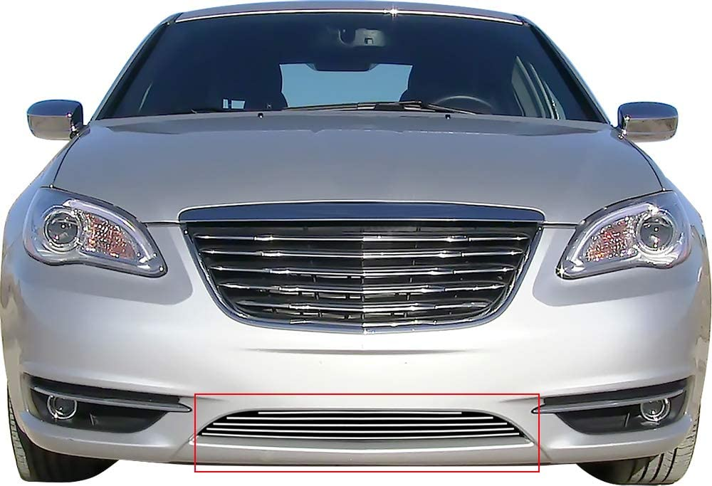 Grille Inserts APS Compatible with 2011-2014 200 Lower Bumper ...