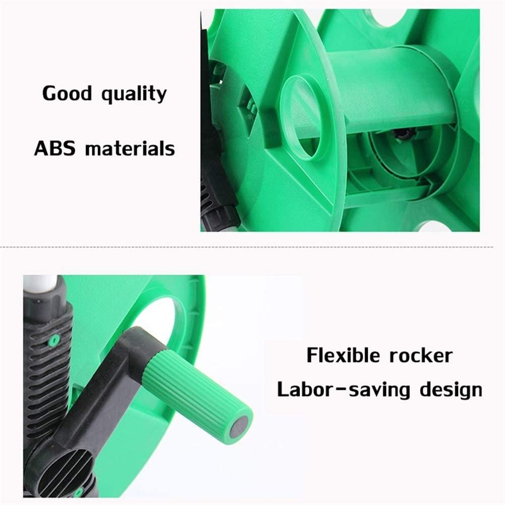 Garden Hoses and fittings The Car Of Automatic Tool Holder Stand Rack Portable Garden Hoses Wall Mount 10-40 M 1/2 Water Pipe Of The Washing Machine (Color : Sky Blue) Green