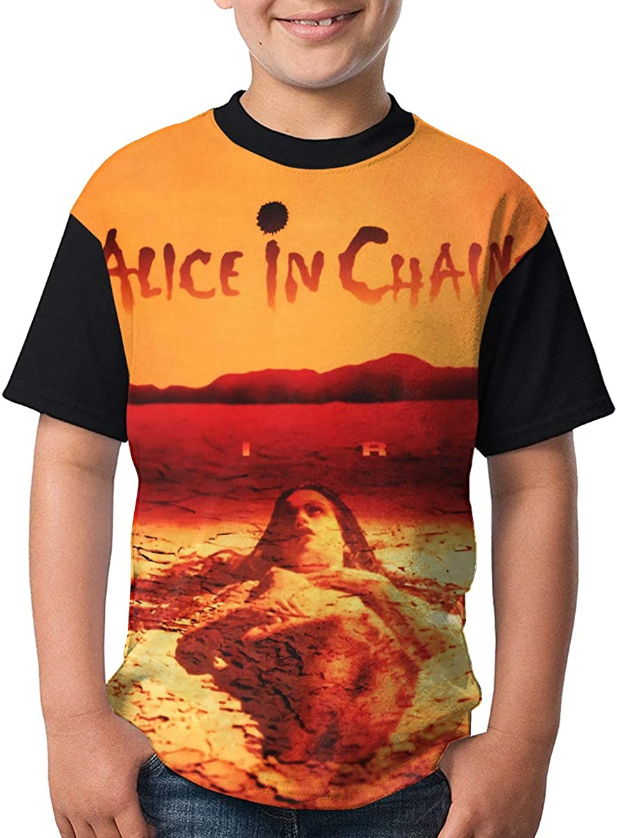 Alice in Chains T Shirt Youth Boy Shirt Round Neck Short Sleeve Tees