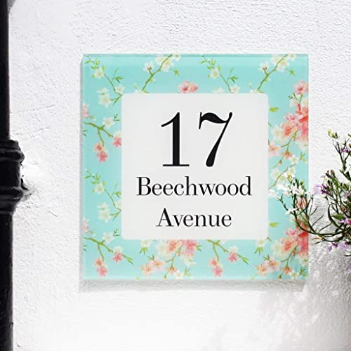 Amazon Com Floral Cherry Blossom Personalized House Sign Handmade