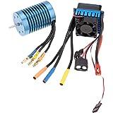 GoolRC 3650 4370KV 4P センサレス ブラシレス モーター 45A ブラシレス ESC(電子 スピードコントローラー) 1/10 RC ラジコン オフロード車 バギー カー ジープ用