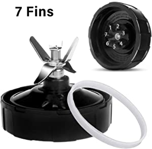 7 Fins Ninja Replacement Parts Blender, Replacement Extractor Blade Parts Fits Nutri Ninja Auto iQ BL482 BL487 BL487A BL488W BL492W BL640 NN100A NN101 NN102 BL2012