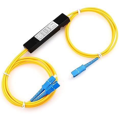 Amazon.com: FTTH fibra óptica PLC Splitter 1: 2 SC pigtailed ...