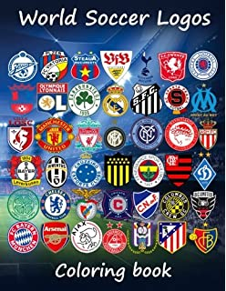 Amazoncom Soccer Logos 2017 Super coloring book which includes