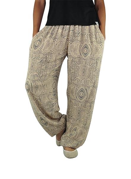 virblatt Pantalones Hippies Mujer y Pantalones Anchos de Vestir Ligeros para Mujeres y Hombres como Pantalones