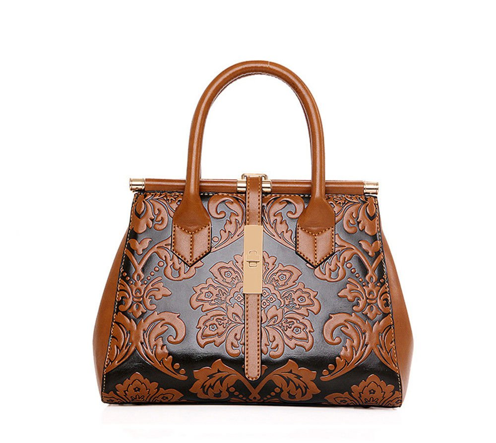 SJMMBB Handbag fashion diagonal shoulder bag,Brown,29X22X13Cm