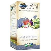 Garden of Life Mykind Organic Multivitamin Supplement 30 Tablets