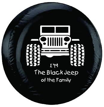 customgrafixtirecoverstm negro Jeep de la familia para neumáticos 26 pulgadas - 35 cm: Amazon.es: Coche y moto