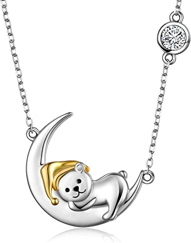 Shipping from USA Birthday Gift Crescent Moon Necklace Sterling Silver Moon Necklace