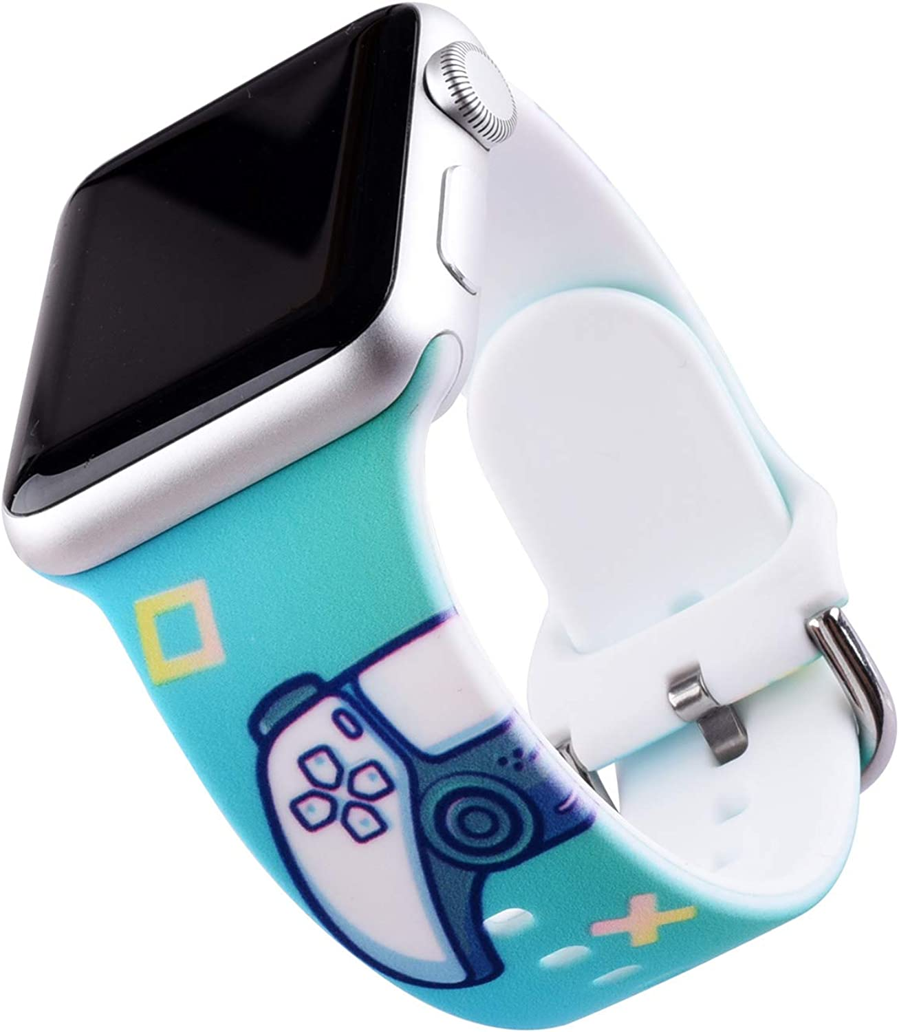 Game Controller Design Compatible with Apple Watch Band 38mm 40mm 42mm 44mm, Game PS5 Strap with Soft Band Wristband for Kids Boys Girls Men Women friends iWatch SE Series 6/5/4/3/2/1