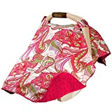 Carseat Canopy Baby Infant Car Seat Cover w/Attachment Straps and Minky Fabric (Sprinkled)