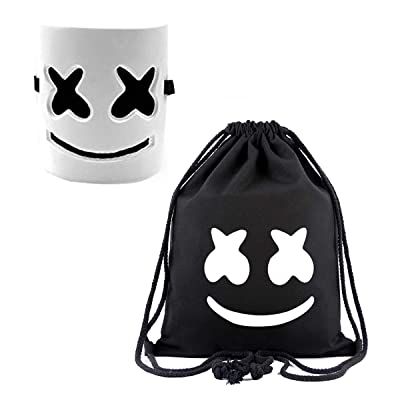 DJ Mask and Backpack Music Festival Helmet Halloween Mask Prop Half Mask Halloween Costume Cosplay Mask Black: Clothing