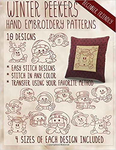 Winter Peekers Hand Embroidery Patterns