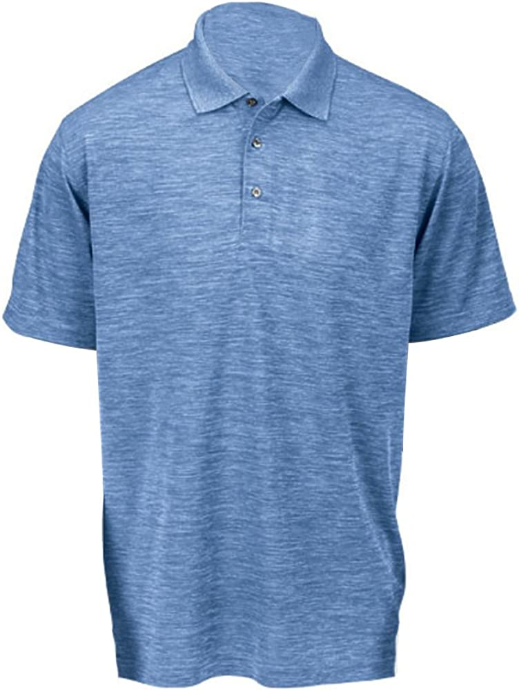 X-Large Paragon 130-PERI Blue Heather-XL Mens Dakota Polo T-Shirt44; Peri Blue Heather