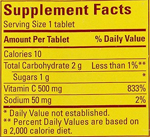 Nature Made Chewable Vitamin C Orange 500 mg.