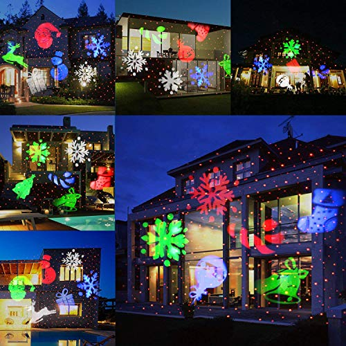 Christmas Projection Lights.Comkes Christmas Projector Lights With Red Dots Bright Led Landscape Spotlight Indoor And Outdoor Waterproof Projection Led Lights For Christmas